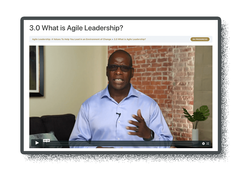 screenshot of agile leadership lesson